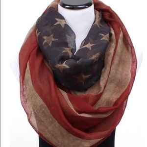 💥3/$15 LAOn Fashion American Flag Infinity scarf